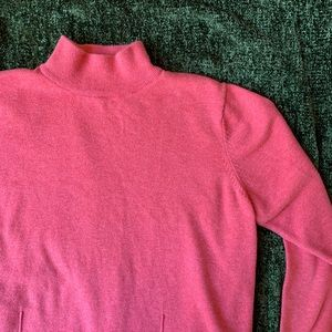 Woolrich 100% Cotton Coral Mock Neck Sweater